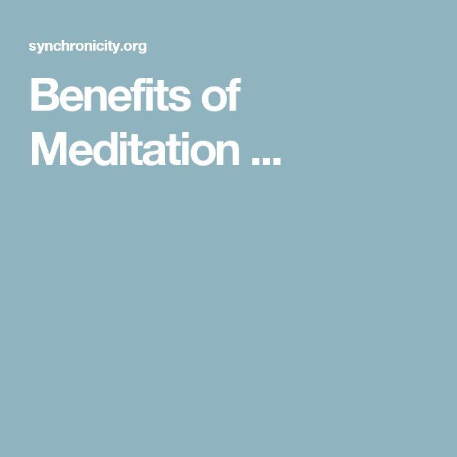 34 best meditation images on Pinterest | Benefits of meditation ...