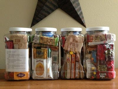 For hurricane season - 72 hr kit food kits (mostly all natural foods)