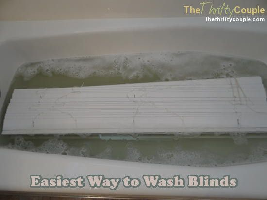 The Best Way To Wash Blinds I would put a towel underneath the blinds to protect your bath!