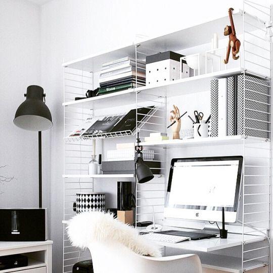 String Regal. Die Perfekte Grundlage Für Ein Kleines Büro Zu Hause Http://