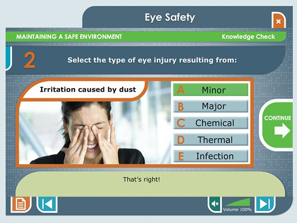 Eye Safety E-Learning Course on Behance