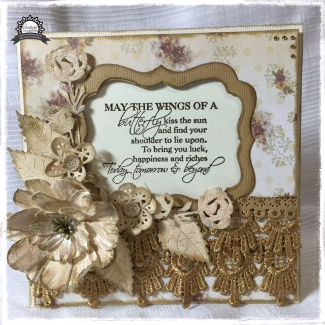 Couture Creations: Wings of a Butterfly Card by Anita Enright | #couturecreationsaus #cards #shabbychic #decorativedies