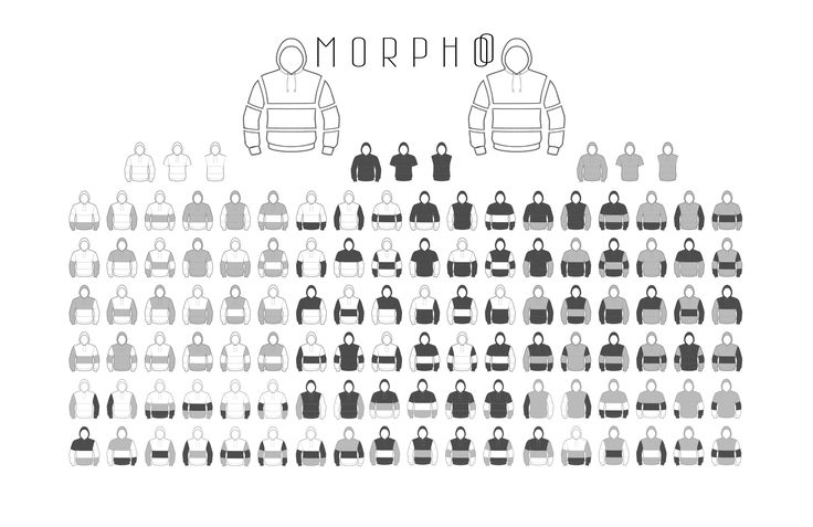 MORPHOO The most editable hoodie in the world!  - Unlock your creativity buying different colours -  Coming soon on INDIEGOGO!  bit.ly/Morphoo-indiegogo Click and share