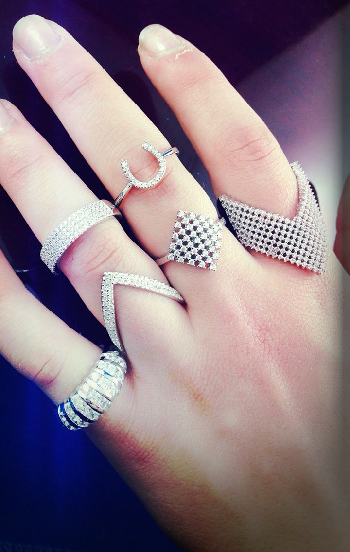Bling rings  V rings  Latest style in sterling silver cz rings  Available @Macchia Jewellery, Horsham, AU