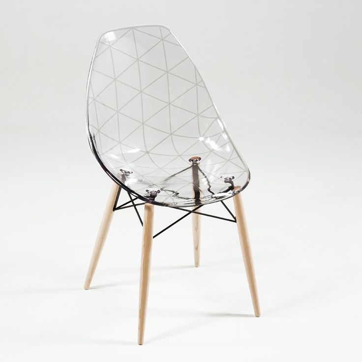 Table bois chaise transparente - Table a manger transparente ...