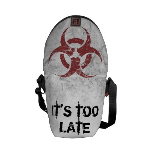 Biohazard Customizable Messenger Bags