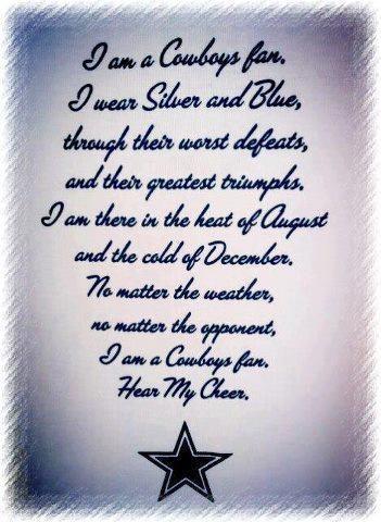 I am a Cowboys fan......