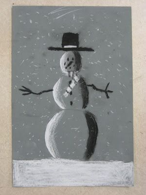 Miss Young's Art Room: Charcoal Snowmen