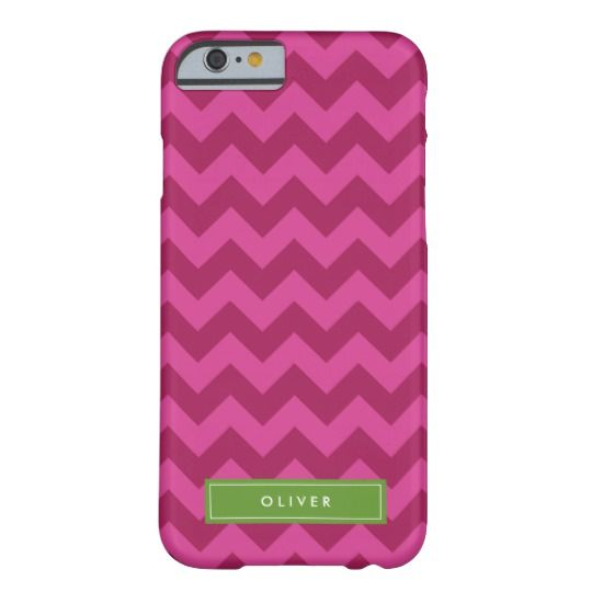 Personalize Name Purple Chevron Monogram Barely There iPhone 6 Case by Rosewood and Citrus on Zazzle