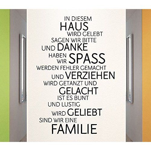 WIR sind eine Familie... - Spruch - Wandtattoo Aufkleber 92x24cm B323-V (weiß)