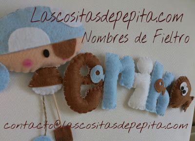 Las cositas de Pepita: Al abordaje!!! Con nuestros Nombres de Fieltro!!!