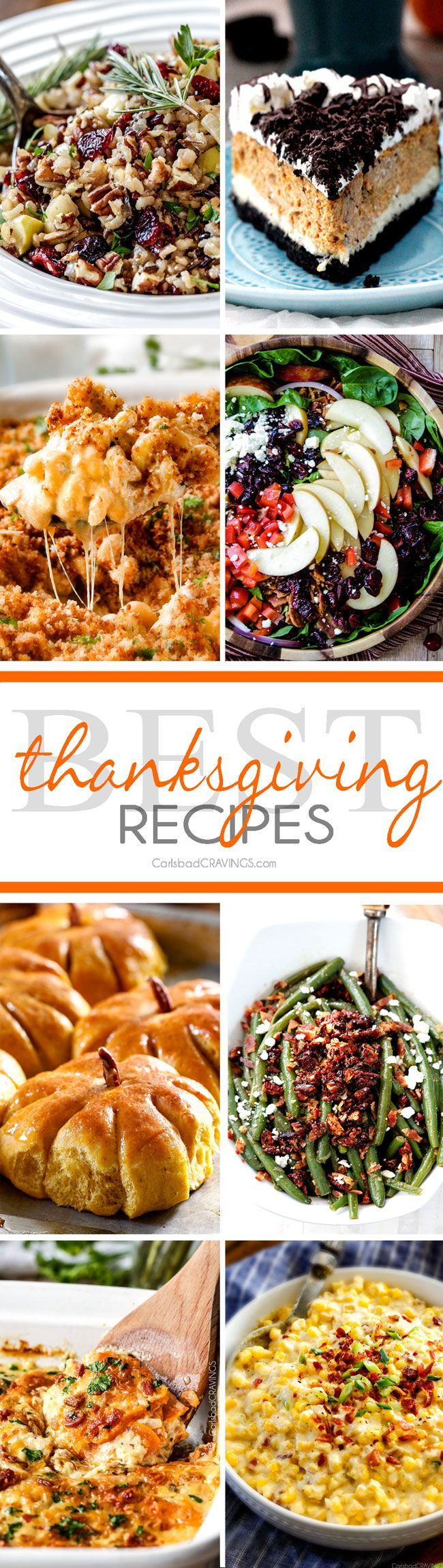 Over 25 of the BEST Thanksgiving Recipes from appetizers, sides and desserts all in ONE spot!  You are guaranteed to find a new family favorite everyone will go crazy over!