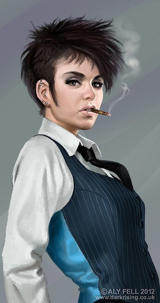 Awesome Digital Portraits by Aly Fell