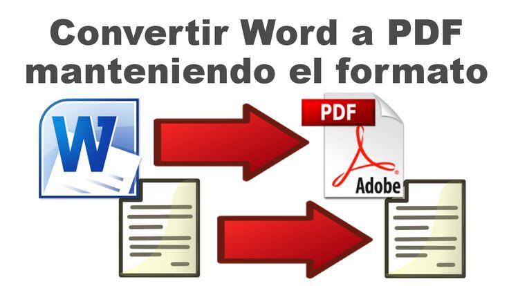 Convertir los documentos Word a PDF sin modificar el formato del documento sin usar programas o herramientas online. #Word #PDF #Documento #Conversor #Office #MicrosoftOffice downloadsource.es