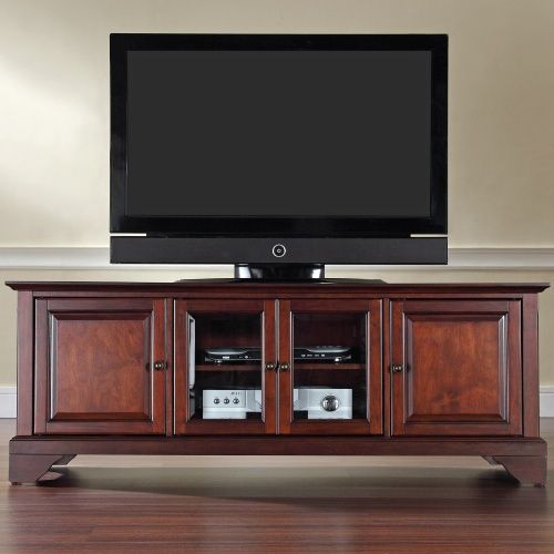 Crosley LaFayette 60 in. Low Profile TV Stand - Vintage Mahogany - TV Stands at Hayneedle