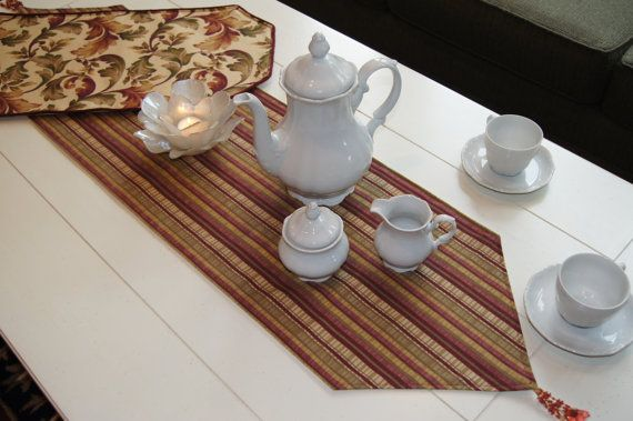 Table Runner by ChairFlair on Etsy, $40.00. Love the flair that this adds to furniture!