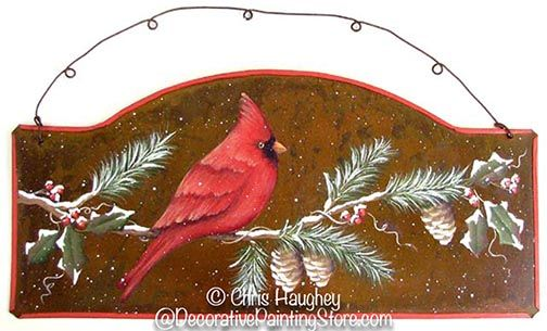 The Decorative Painting Store: Cardinal Sign Pattern BY DOWNLOAD, Christmas, Winter, & Snowmen