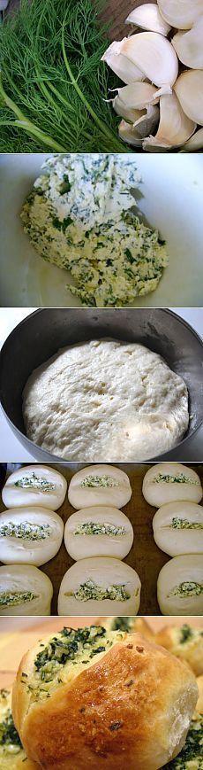 Чесночные булочки / Булочки / TVCook: пошаговые рецепты c фото