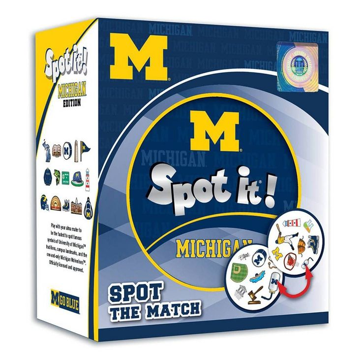NCAA Michigan Wolverines Spot It Game Michigan