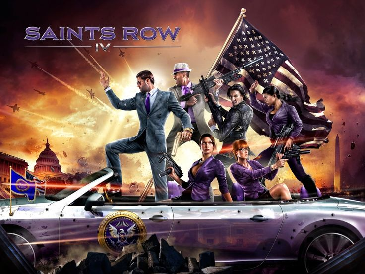 Saints Row 4.This game is madly addicting, be prepared to get sucked in.