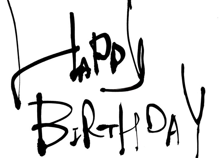 Happy birthday calligraphy letter designs and