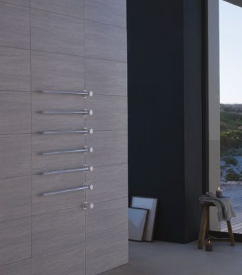 VOLA built-in modular heated towel rail for individual design solutions.