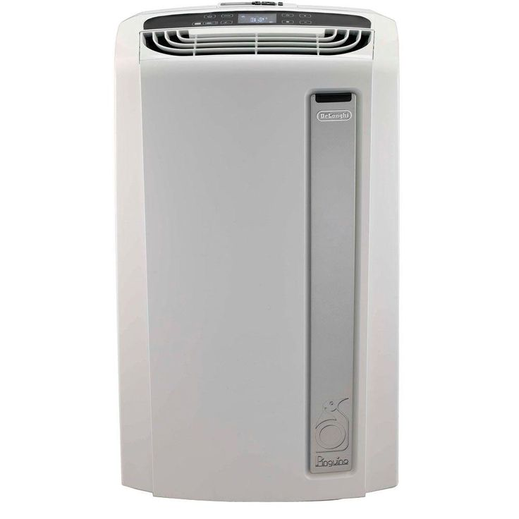 DeLonghi Pinguino 12,000 BTU Whisper Quiet Portable Air Conditioner with BioSilver Air Filter, White