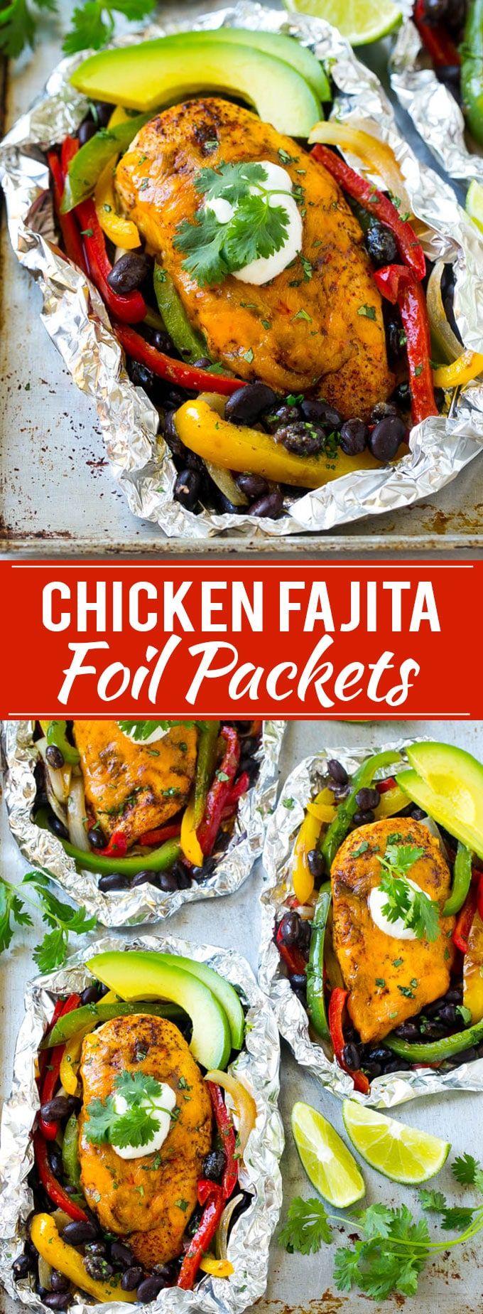 Chicken Fajita Foil Packet Recipe   Chicken Fajita Recipe   Foil Pack Recipe   Mexican Chicken