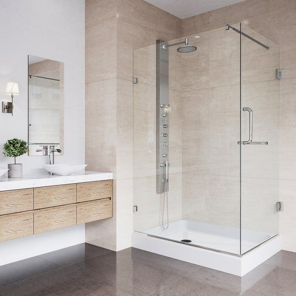 Pacifica 48 W X 79 H Rectangle Hinged Shower Enclosure With Base