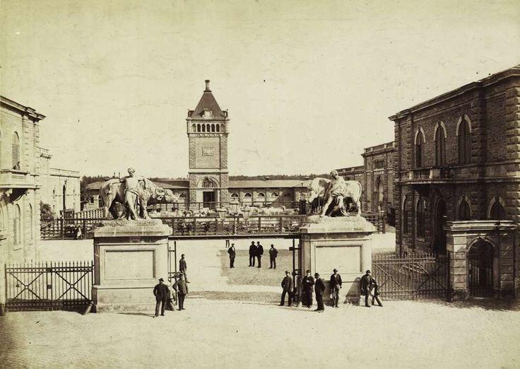 Soroksári út, Közvágóhíd. A felvétel 1880-1890 között készült. A kép forrását kérjük így adja meg: Fortepan / Budapest Főváros Levéltára. Levéltári jelzet: HU.BFL.XV.19.d.1.06.052
