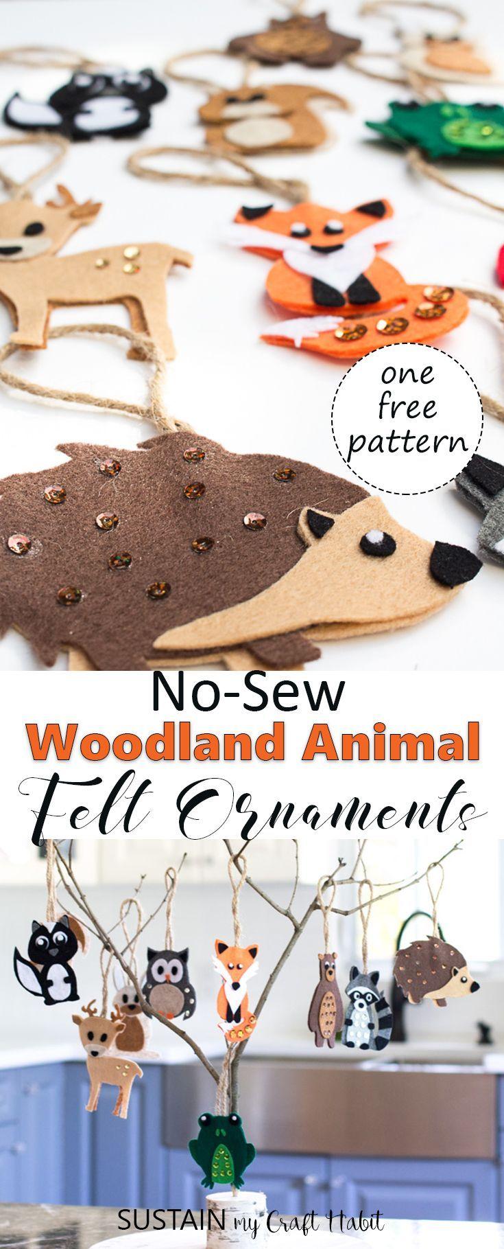 Diy Woodland Felt Ornaments Felt Ornaments Woodland