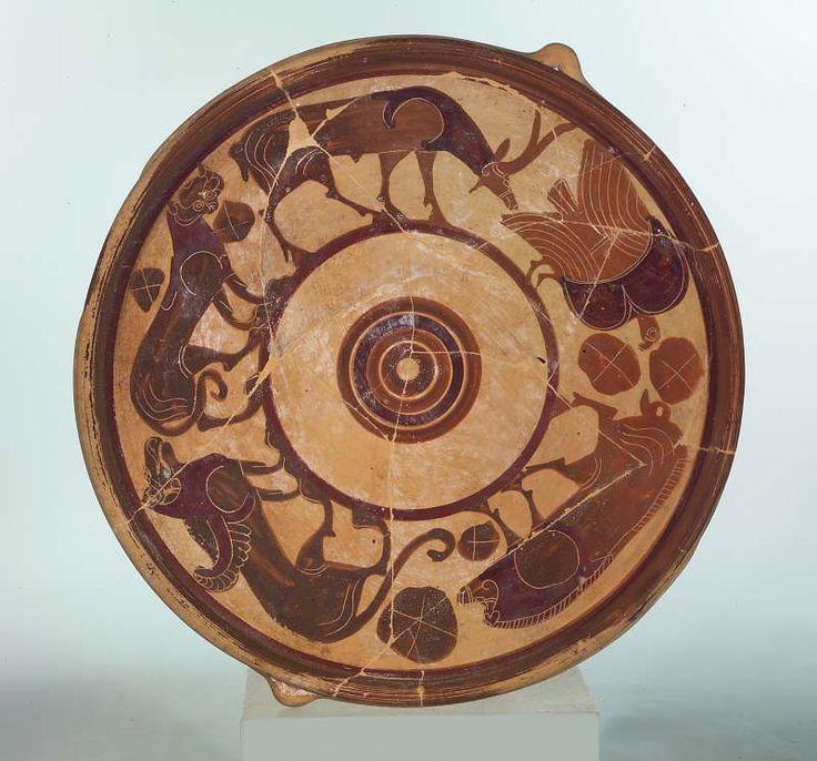 Piatto etrusco corinzio_Bottega del Pittore di Feoli