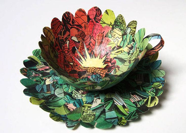Paper Art Made with Recycled Old Books