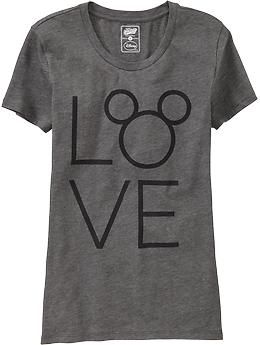 "Womens ""LOVE"" Disney© Mickey Mouse Tees Old Navy"