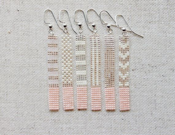 Boucles en perles tissées