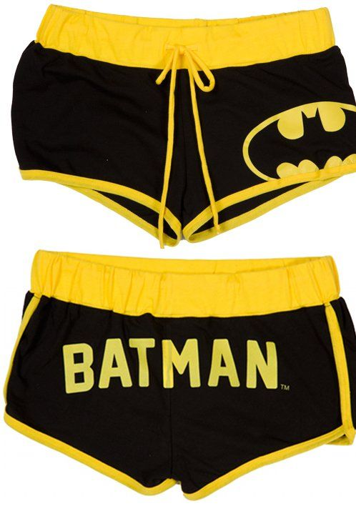 Batman Boy Shorts ($30) Found by Fashionably Geek