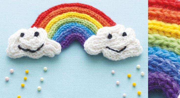 Faire du #tricotin en forme d'arc en ciel
