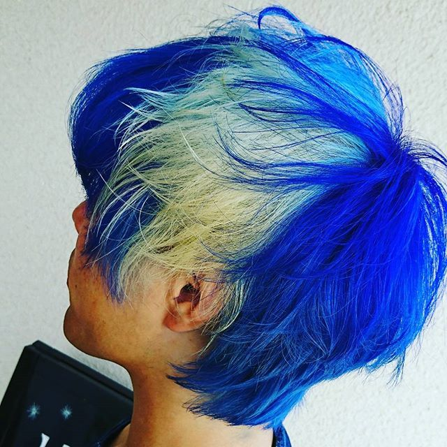 blue#マニパニ#ブリーチ#三回#ブルーカラー#COLOR#men's#メン | WEBSTA - Instagram Analytics