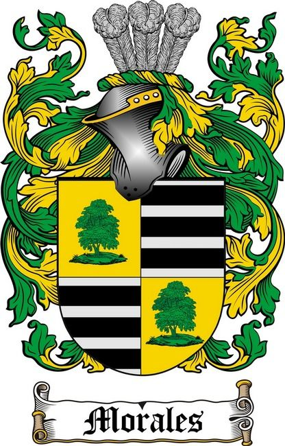 MORALES FAMILY CREST - COAT OF ARMS gifts at www.4crests.com