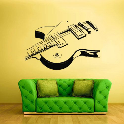 Best Music Wall Decals Images On Pinterest Music Wall Music - Custom vinyl guitar stickers