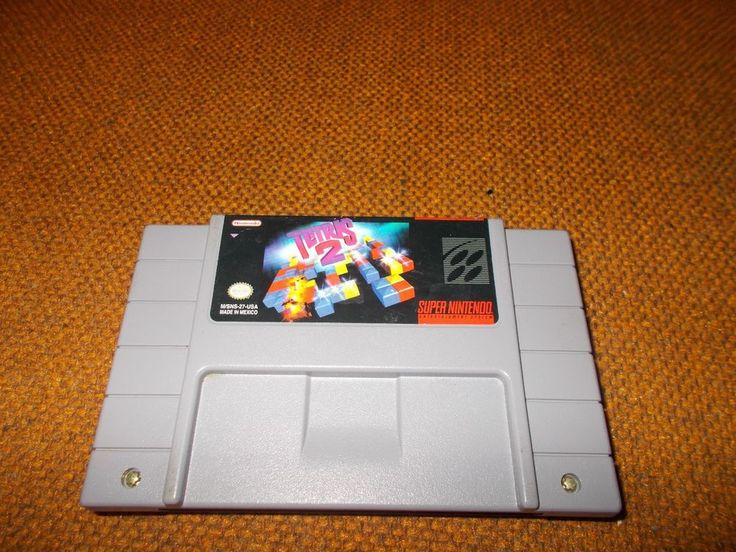 Super Nintendo Tetris 2  SNES Cartridge