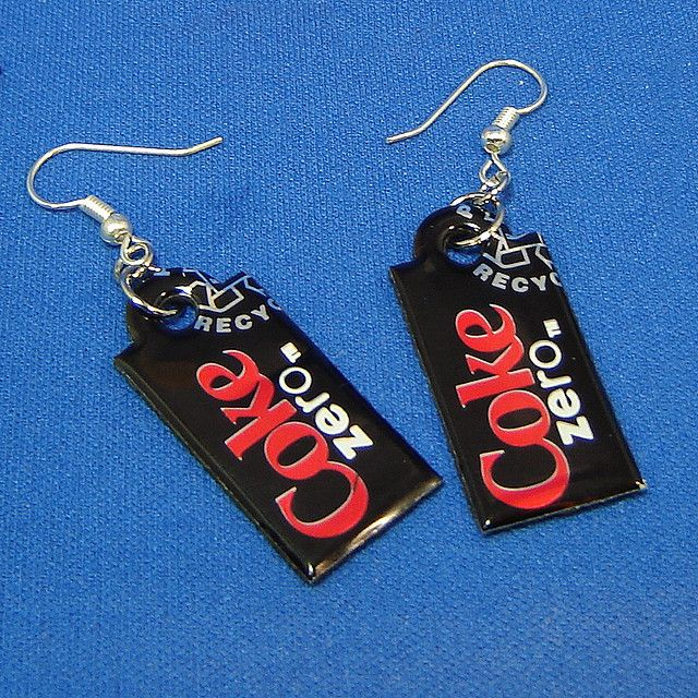 COKE ZERO EARRINGS