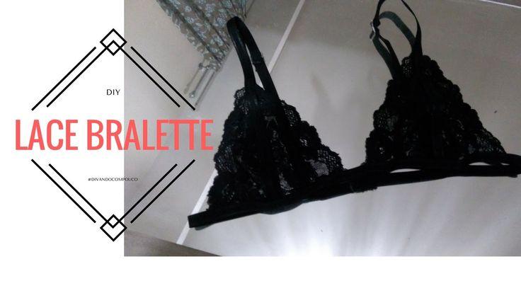 DIY Lace Bralette (soutien de renda )