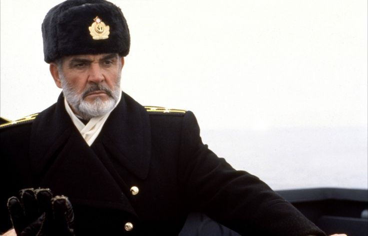 Sean Connery in The Hunt for Red October directed by John McTiernan, 1990