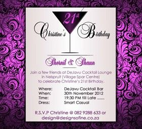 INVITATION DESIGN - Birthday Party E-Invitation