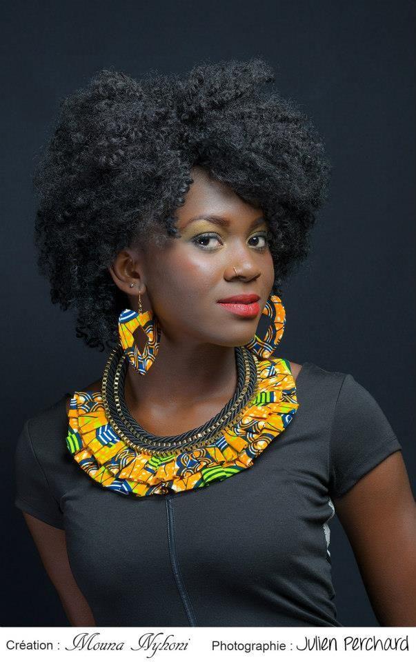 cewax.fr aime ce collier multi rang en tissu africain wax style ethnique afro tendance tribale Mounia Nyhoni