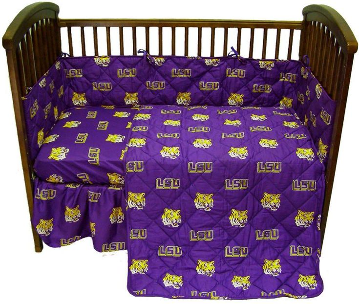 LSU 5 piece Baby Crib Set - LSUCS by College Covers