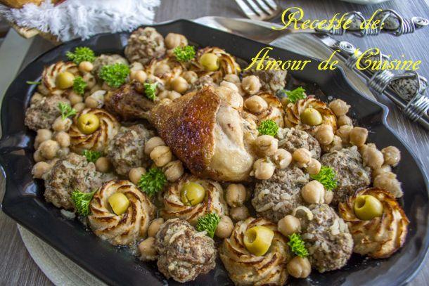 tajine de chou fleur et boulettes de viande hachée - Amour de cuisine