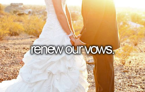 renew our vows