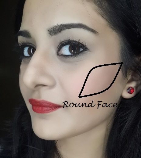 blush application tutorial for round face shape